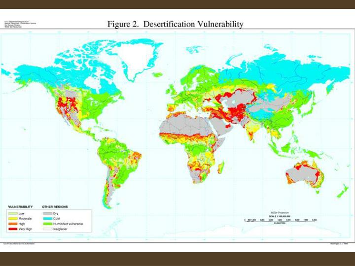 Desertification in the sahel