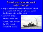 evolution of network centric strike concepts
