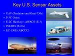 key u s sensor assets