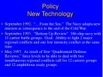 policy new technology