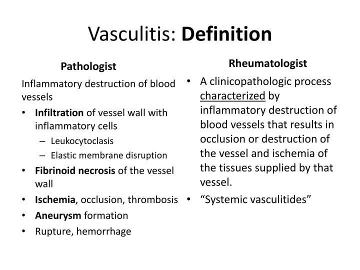 Vasculitis definition
