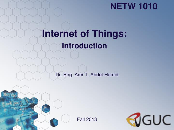 internet of things introduction n.