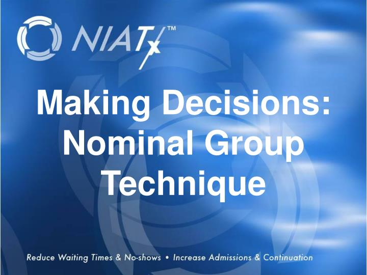 NIATx opportunities for tomorrow
