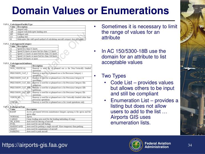Domain Values or Enumerations
