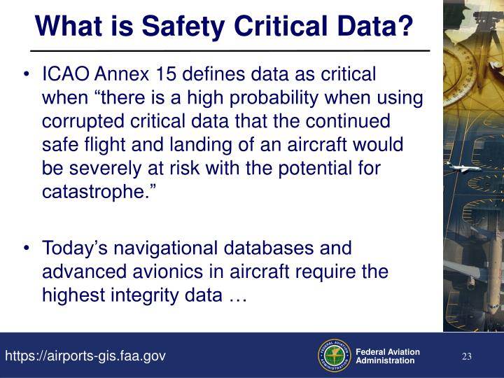 What is Safety Critical Data?