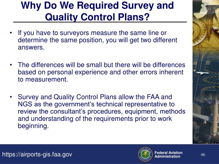 Why Do We Required Survey and Quality Control Plans?