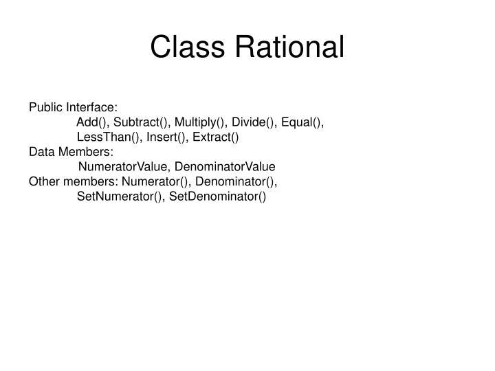 Class Rational