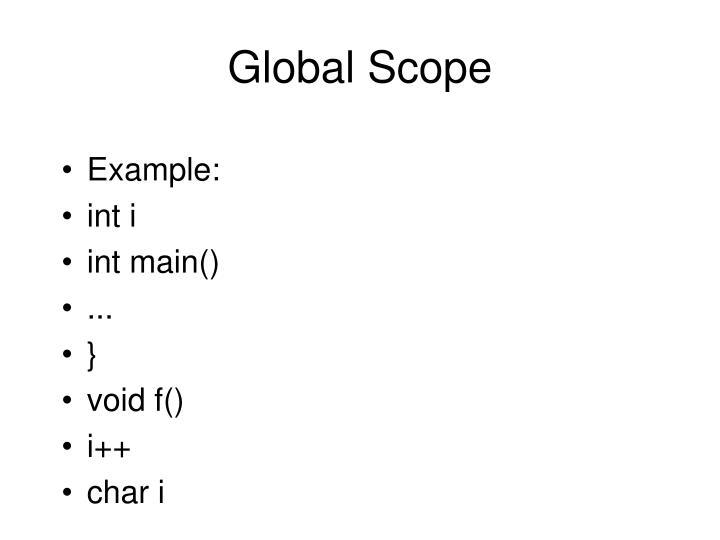 Global Scope