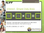 interest simple daily basis