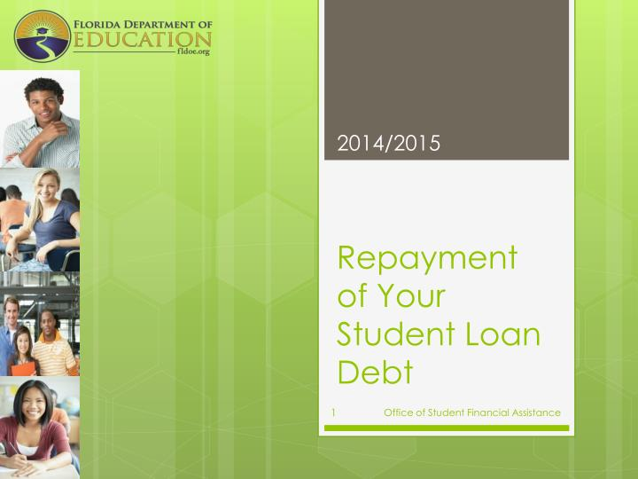 repayment of your student loan debt n.