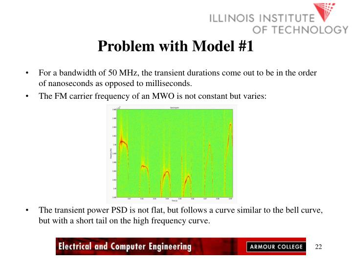 Problem with Model #1