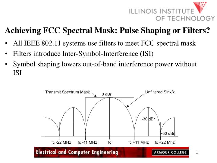Achieving FCC Spectral Mask: Pulse Shaping or Filters?