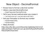 new object decimalformat