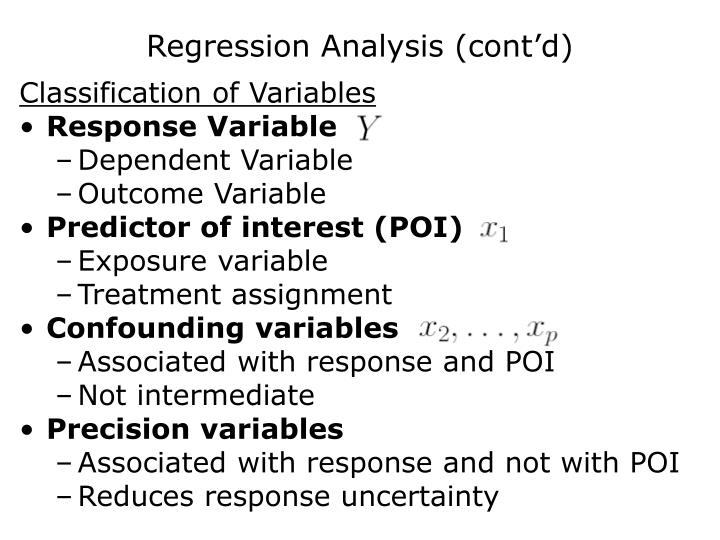 Regression Analysis (cont'd)