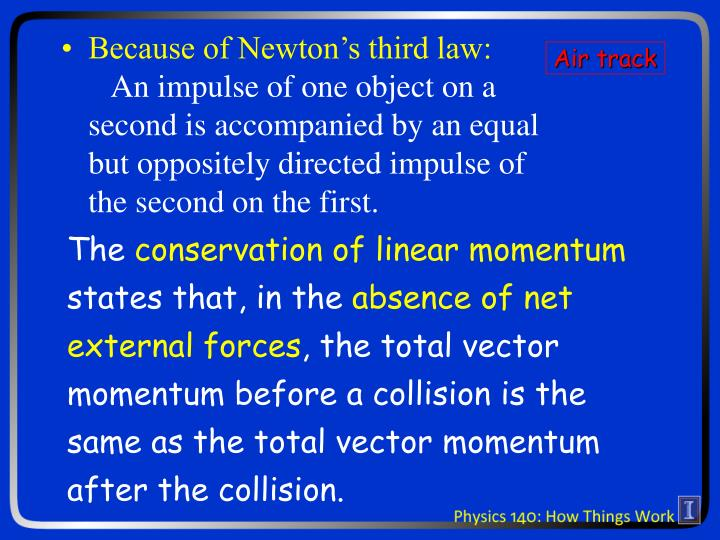 Because of Newton's third law: