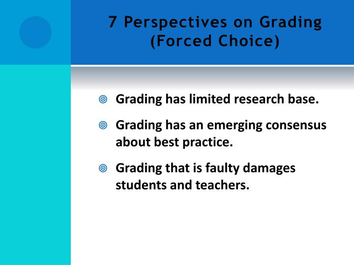 7 Perspectives on Grading