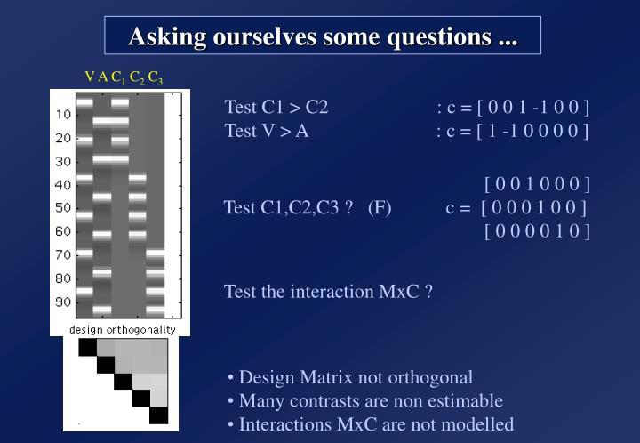 Design Matrix not orthogonal