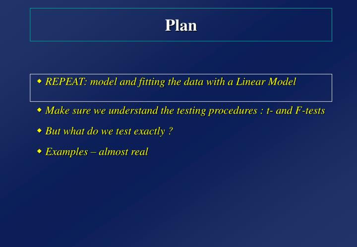 REPEAT: model and fitting the data with a Linear Model