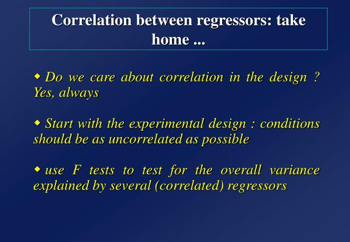 Correlation between regressors: take home ...