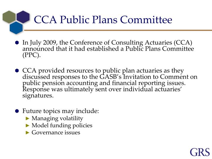 CCA Public Plans Committee