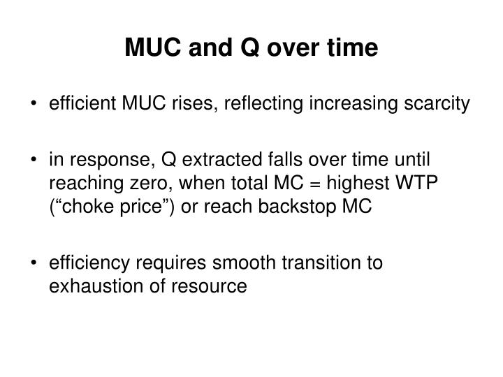 MUC and Q over time