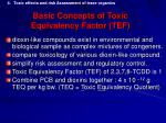 basic concepts of toxic equivalency factor tef