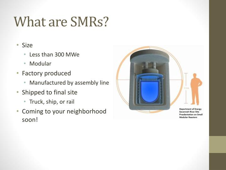 What are SMRs?