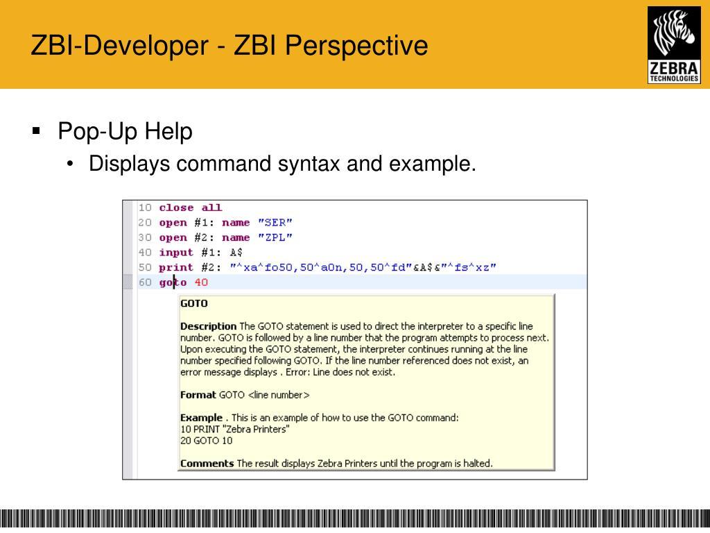 PPT - ZBI 2 0 & ZBI-Developer PowerPoint Presentation - ID:6625835