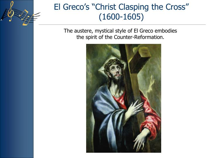 """El Greco's """"Christ Clasping the Cross"""" (1600-1605)"""