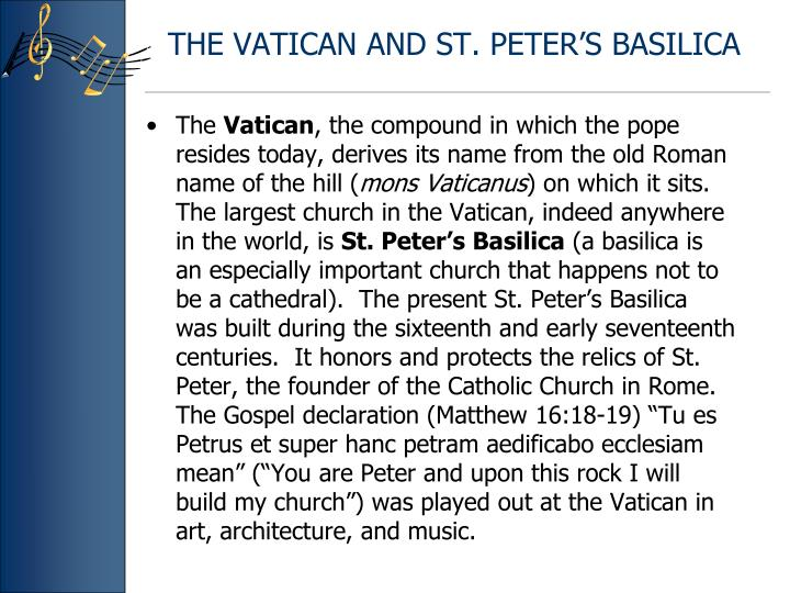 THE VATICAN AND ST. PETER'S BASILICA