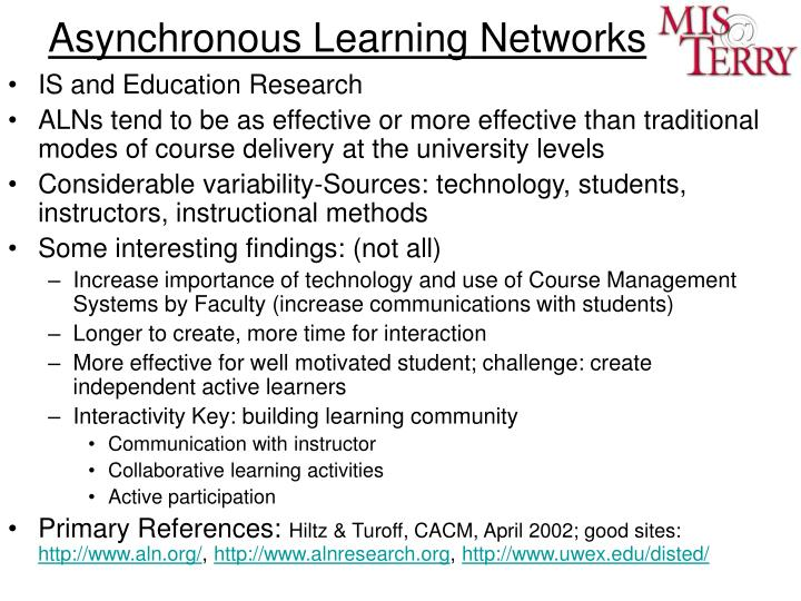 Asynchronous Learning Networks