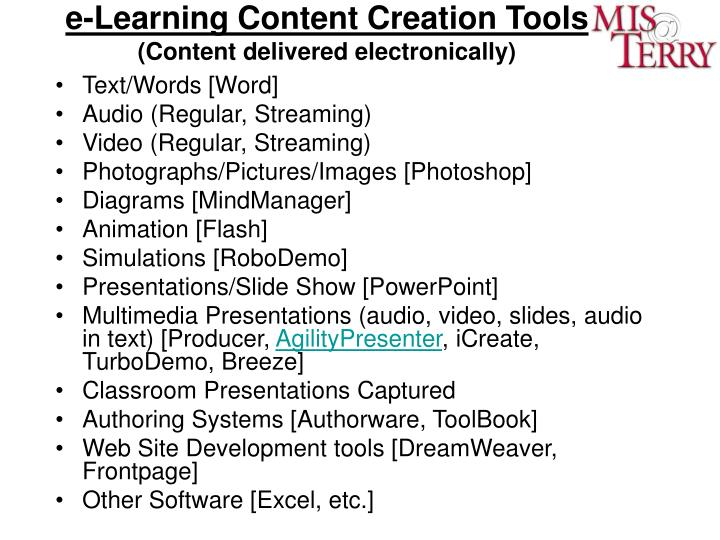 e-Learning Content Creation Tools