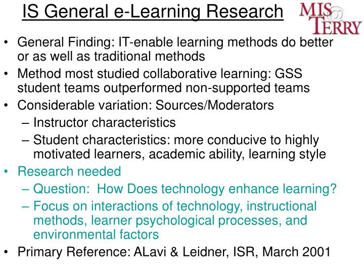 IS General e-Learning Research