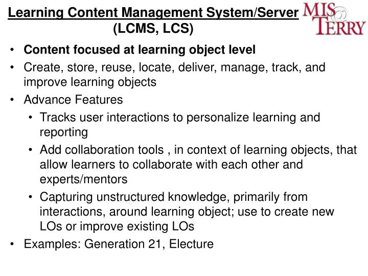 Learning Content Management System/Server