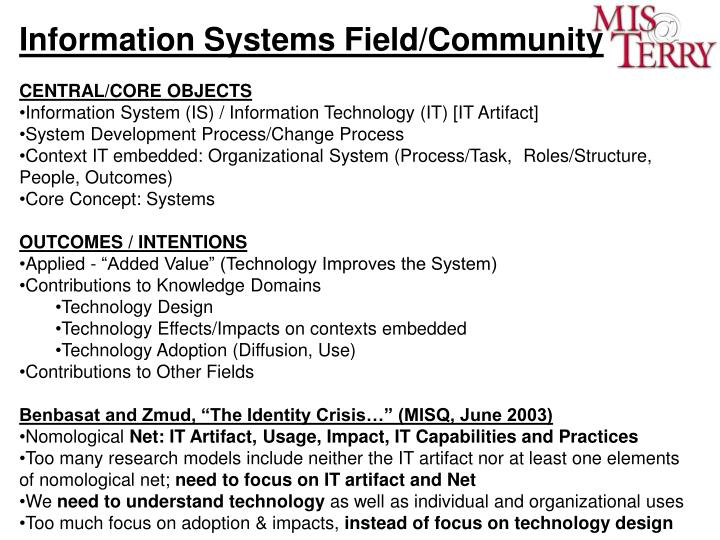Information Systems Field/Community