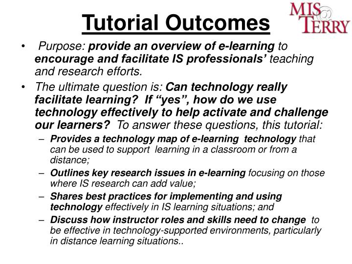 Tutorial Outcomes
