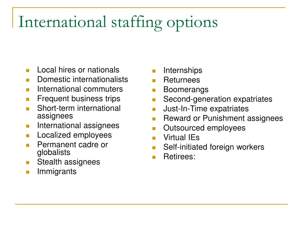 PPT - CHAPTER 5: Global Talent Management and Staffing PowerPoint