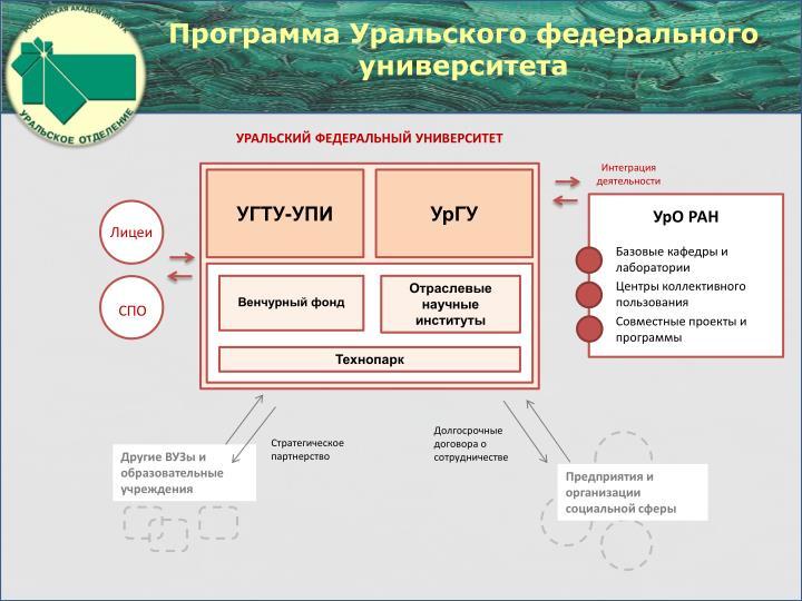 Программа Уральского федерального университета
