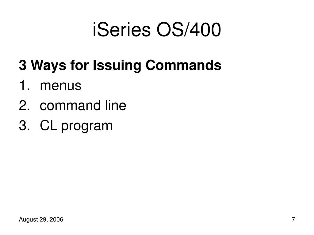 PPT - Accessing the iSeries and Some Commands PowerPoint