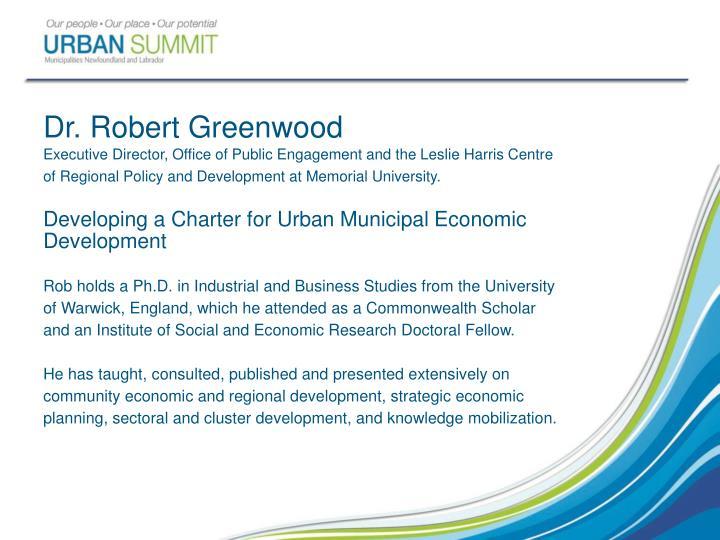 Dr. Robert Greenwood