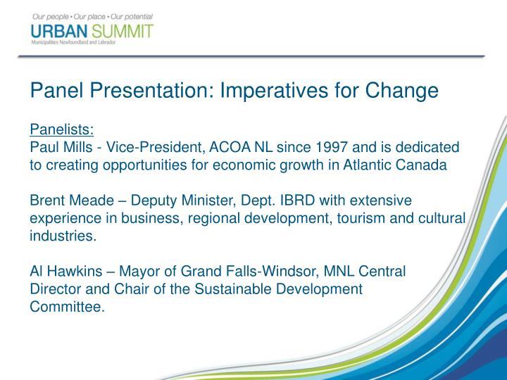 Panel Presentation: