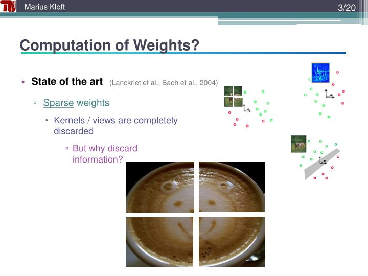 Computation of Weights?