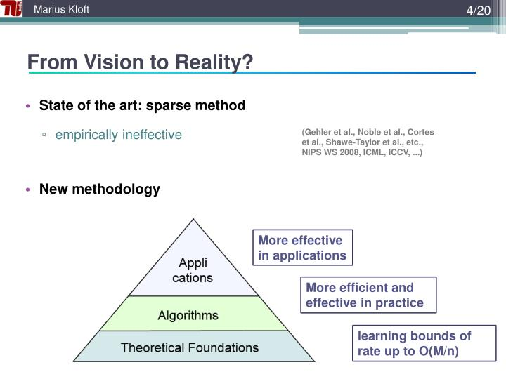 From Vision to Reality?