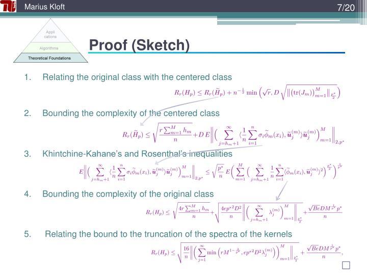Proof (Sketch)