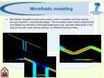 microfluidic modelling