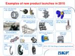 examples of new product launches in 2010