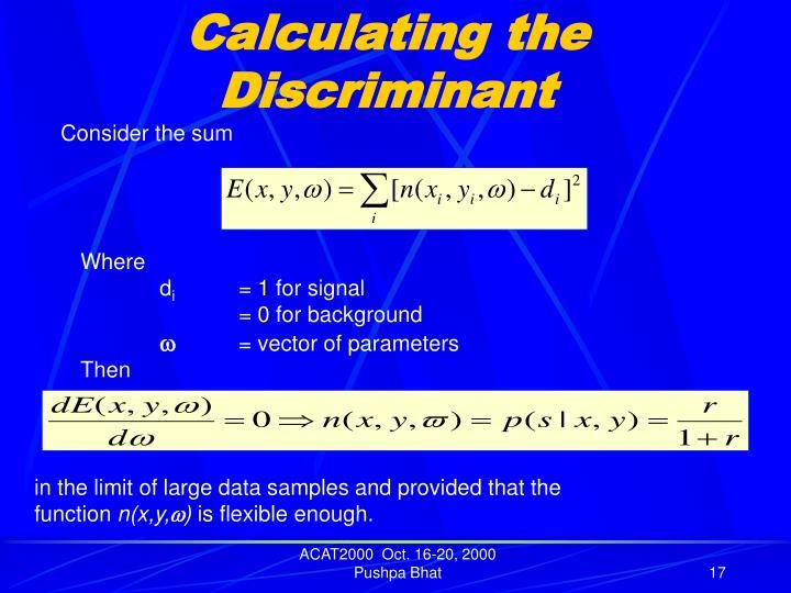 Calculating the Discriminant