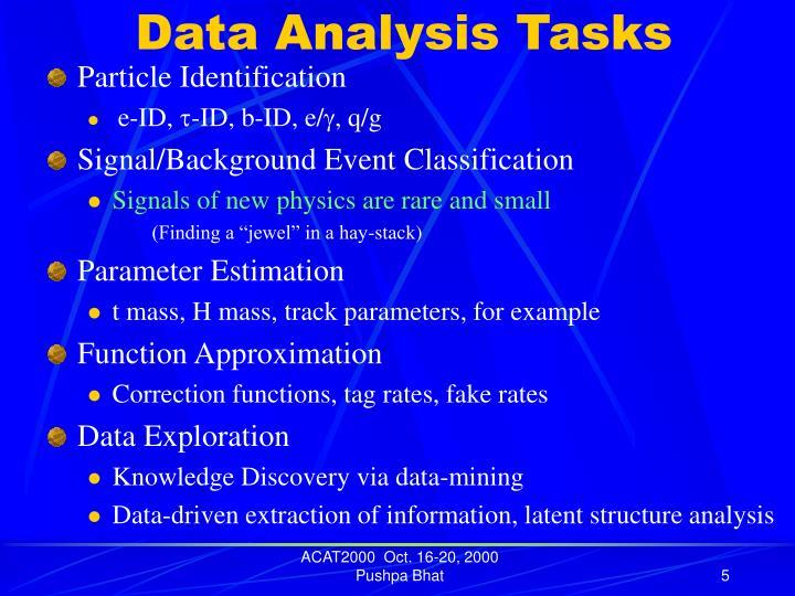 Data Analysis Tasks
