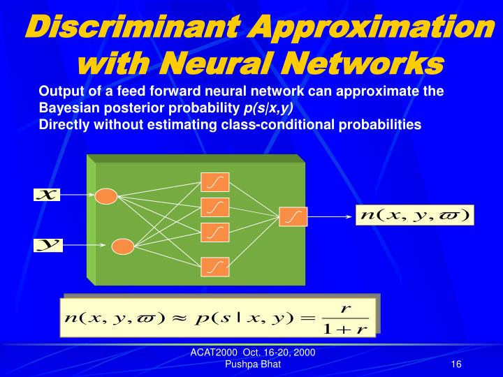 Discriminant Approximation with Neural Networks