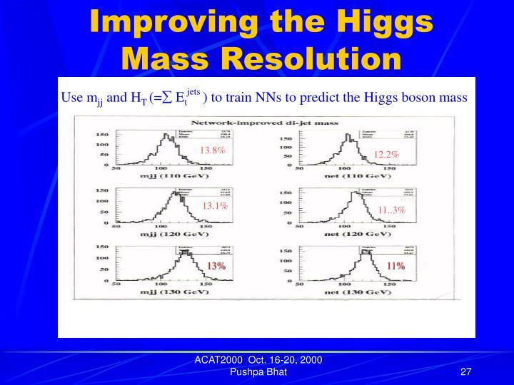 Improving the Higgs Mass Resolution